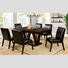 Belinda I Espresso Rectangular Dining Room Set, Cm3357t