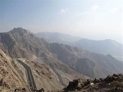 Saudi Mountain Road Mountains Hijaz Commons Wikimedia