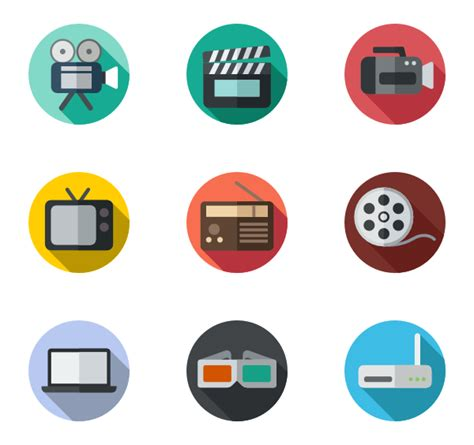 video icon packs vector icon packs svg psd png