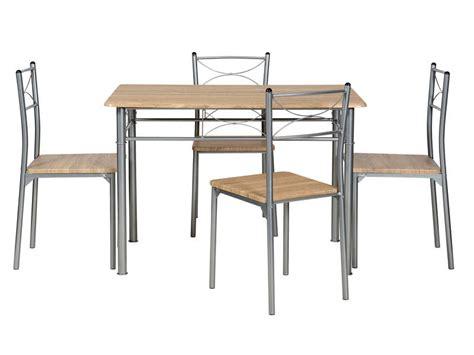 chaises conforama cuisine ensemble table rectangulaire 4 chaises de cuisine tutti