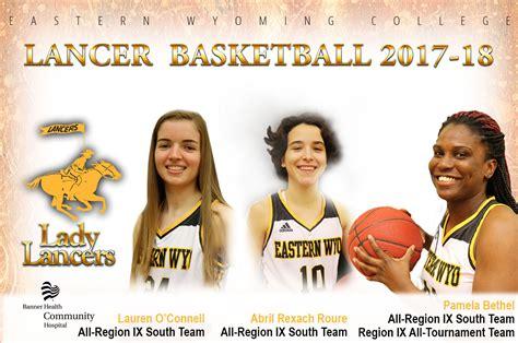 ewc womens basketball student athletes receive region ix honors