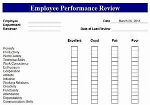 hr performance review template - free employee evaluation forms printable google search