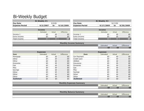 bi weekly budget template 9 best images of free printable bi weekly budget template bi weekly budget template bi weekly