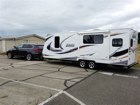 X5 Pulling A Camping Trailer