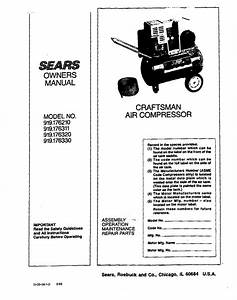 Craftsman Compressor 919