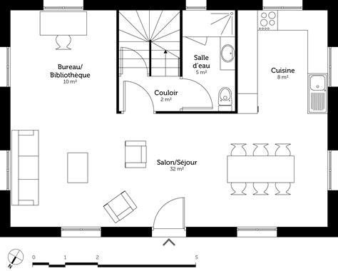 plan maison etage 4 chambres 1 bureau plan maison à étage 110 m ooreka