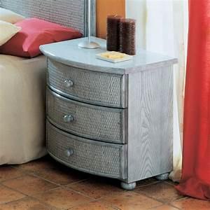 Meuble De Chevet : meuble de chevet en rotin brin d 39 ouest ~ Teatrodelosmanantiales.com Idées de Décoration