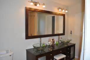 Framing Bathroom Mirror Ideas Diy Mirror Frame Diy My Home