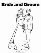 Bride Coloring Groom Princess Shower Printable Twistynoodle Colorir Template Books Outline sketch template