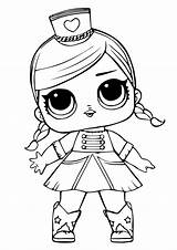 Lol Coloring Dolls Doll Surprise Printable sketch template