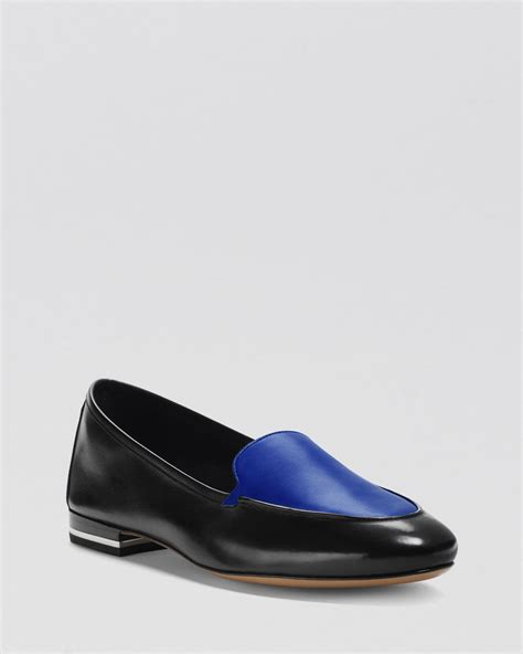 jeslyn wallet michael kors loafer flats jeslyn slip on in blue black