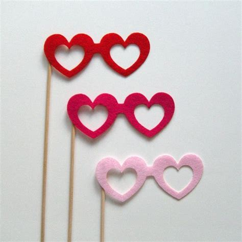 valentines day 9 photobooth prop valentines day on a stick kit by
