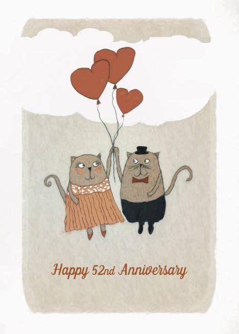 happy  wedding anniversary  cats heart balloons