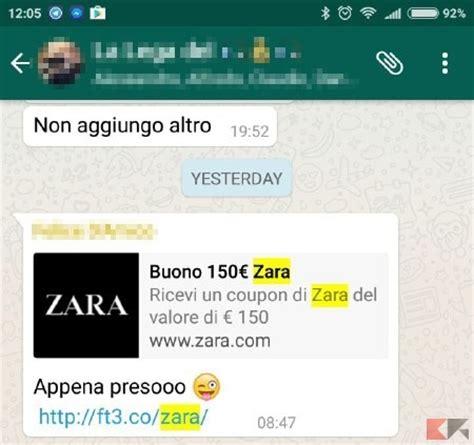 zara si鑒e social buono da 150 di zara su whatsapp e 39 una bufala