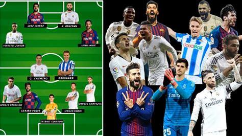 Best eleven starting player la liga spain 2020 - the ...