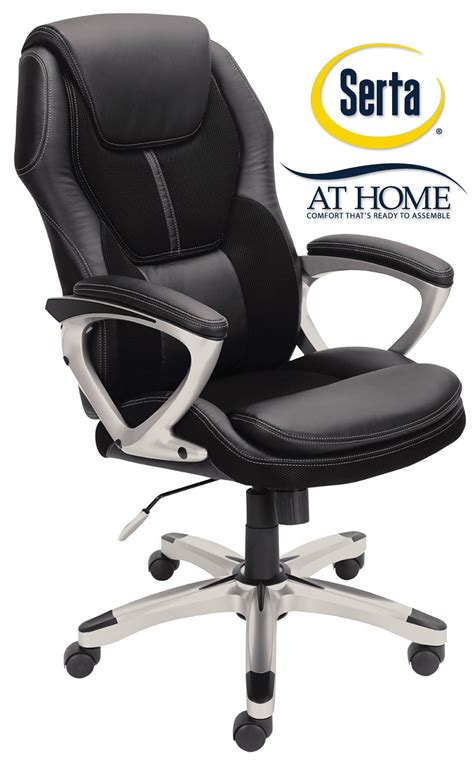 Office Chairs Usa Coupon by Serta Black Executive Office Chair