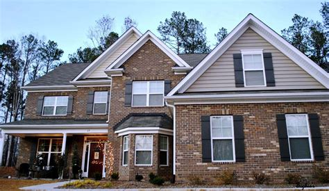 exterior paint color combinations with brick mix and