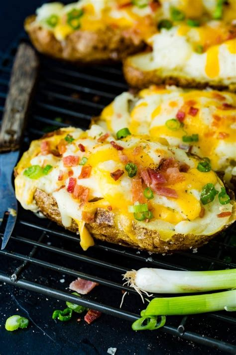 loaded  baked potatoes recipe  sweet basil