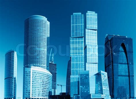 modern skyscrapers  tall buildings stock photo