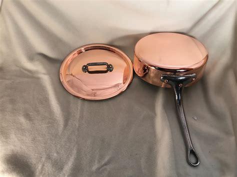 mauviel   copper saute pan  lid fully restored rocky mountain retinning