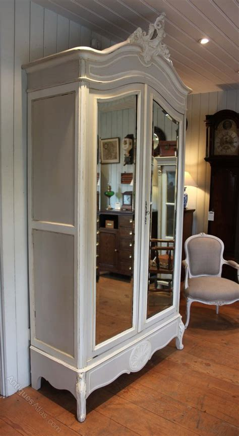 Mirrored Wardrobes For Sale by Painted Mirrored Two Door Armoire Antiques Atlas