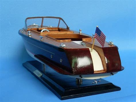 Speed Boat Model by Buy Wooden Chris Craft Runabout Model Speedboat 20 Inch