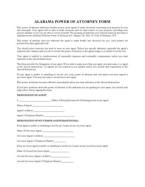 alabama power of attorney form pdf free alabama durable financial power of attorney form