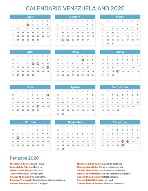 calendario de venezuela ano feriados
