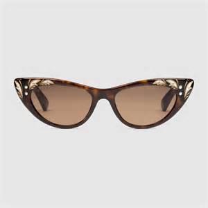 cat eye sunglasses gucci cat eye sunglasses in brown lyst