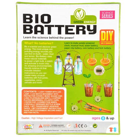 Buy Bio Battery Diy Kit For 8 Age Science Project Www
