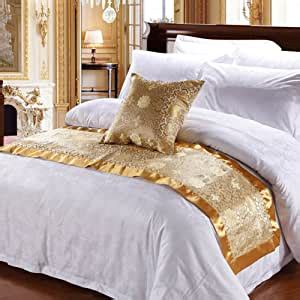 amazoncom luxury bed runnersoft  fading bedding