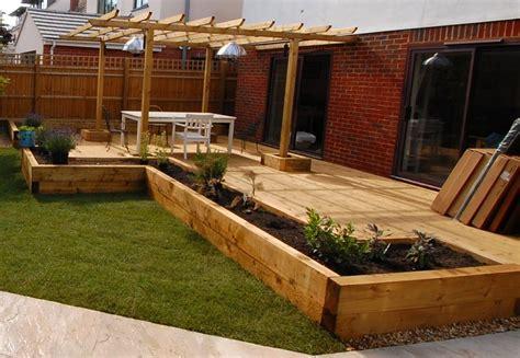 new oxford railway sleeper patio raised beds