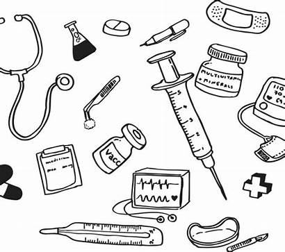 Medical Aid Equipment Coloring Pages Drawing Getdrawings