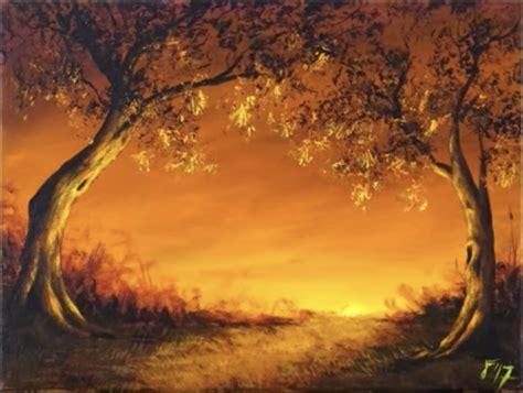 paint   sunset  easy steps  beginners nsd