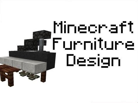 minecraft  version furniture series ep fancy bed