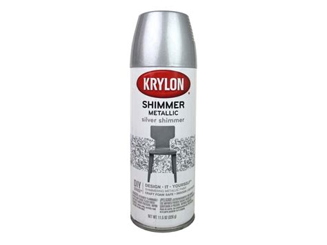 Krylon Shimmer Metallic Spray Paint 11.5 Oz. Silver Invitation Baby Shower Girl Gifts For The Mom Bow Tie Games Twin Elephant Invitations Custom Free Cupcake Decorating Ideas Fruit Bassinet Boy Templates