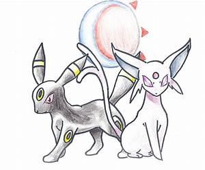 Umbreon And Espeon Drawing