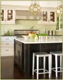 Green Kitchen Backsplash Tile Green Glass Tile Kitchen Backsplash Home Design Ideas