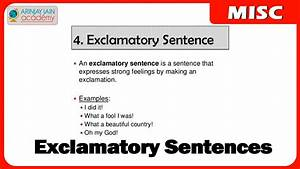 Exclamatory Sentences - English