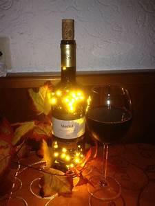 Flasche Mit Lichterkette : merlot rotweinflasche flasche mit led beleuchtung von ~ Lizthompson.info Haus und Dekorationen