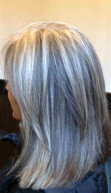 blonde highlights  gray hair heres  good idea