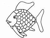 Coloring Fish Printable Bowl Pages Popular sketch template