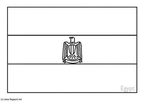 Coloring Page Flag Egypt