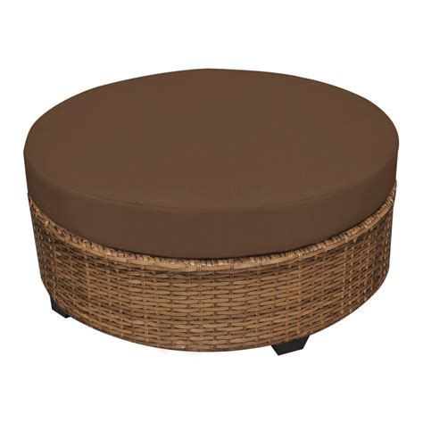 round loveseat with ottoman round wicker ottoman for your living room home furniture