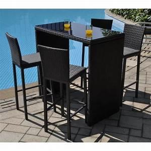 Table De Jardin Tressé : bar de jardin resine tresse table de lit a roulettes ~ Teatrodelosmanantiales.com Idées de Décoration
