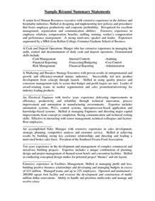 What Is A Summary Statement For A Resume by Resume Summary Statement Exle Berathen