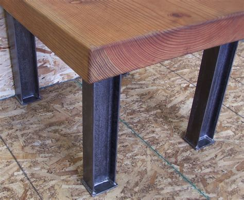 metal legs for a desk industrial desk or dining table legs heavy structural steel