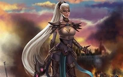 Fantasy Warrior Female Woman Artwork Wallpapers Desktop