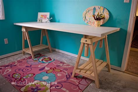 plans to build a desk white adjustable height sawhorses diy projects