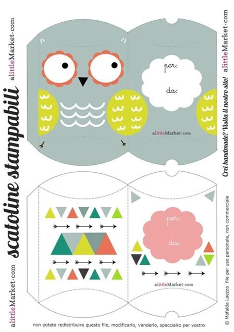 Owl Pillow Box Template by Free Printable Owl Box Cajas Boxes